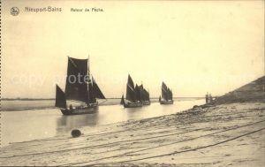 Nieuport Bains Retour de Peche Bateau Fischerboote Kat.