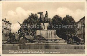 Anvers Antwerpen Monument aux Morts pour la Petrie Kriegerdenkmal Kat.