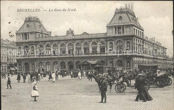Bruxelles Bruessel Gare du Nord Bahnhof Kat.