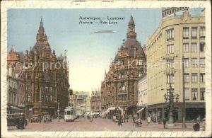 Anvers Antwerpen Rue Leys Tram Kat.