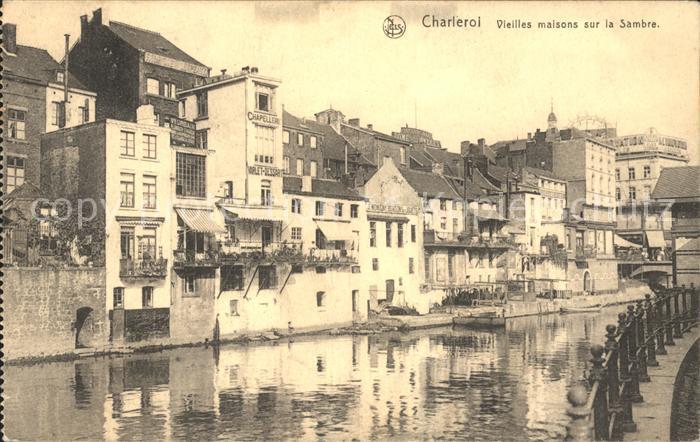 Charleroi Hainaut Wallonie Vieilles maisons sur la Sambre Kat.