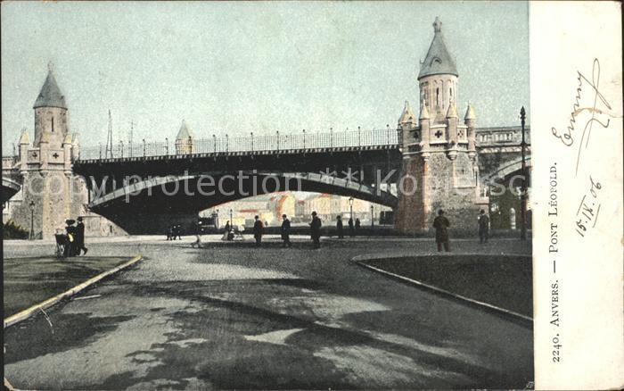 Anvers Antwerpen Pont Leopold Kat.