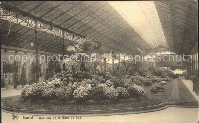 Gand Belgien Interieur de la Gare du Sud Kat. Gent Flandern Nr ...