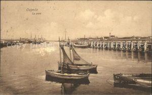 Ostende Flandre Le Port Bateau de peche Kat.