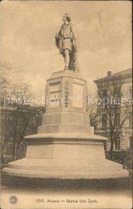 Anvers Antwerpen Statue Van Dyck Monument Kat.
