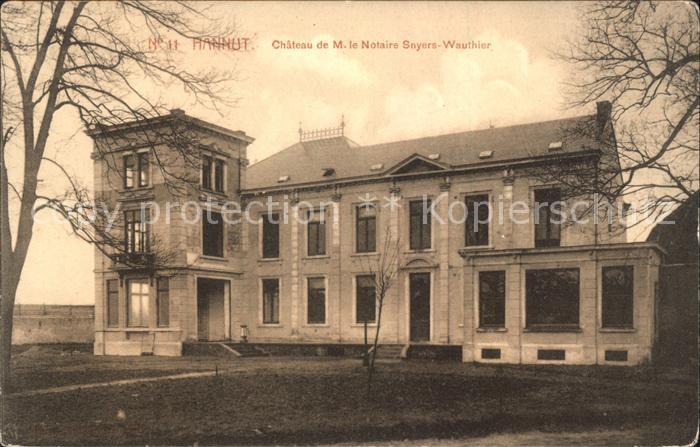 Hannut Chateau de M. le Notaire Snyers Wauthier Wappen Kat.