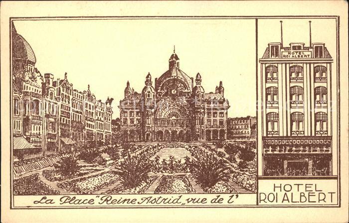 Anvers Antwerpen Place Reine Astrid Hotel Roi Albert Kuenstlerkarte /  /