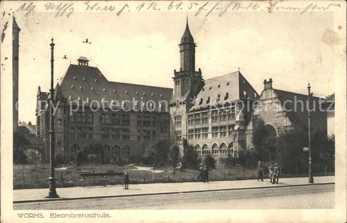Worms Rhein Eleonorenschule Kat. Worms