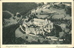 Edertal Edertalsperre Burghotel Schloss Waldeck Fliegeraufnahme / Edertal /Waldeck-Frankenberg LKR