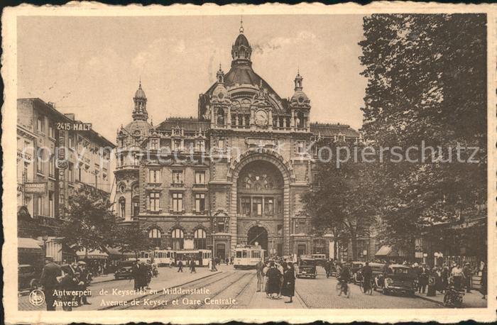 Anvers Antwerpen Avenue de Keyser et Gare Centrale Kat.