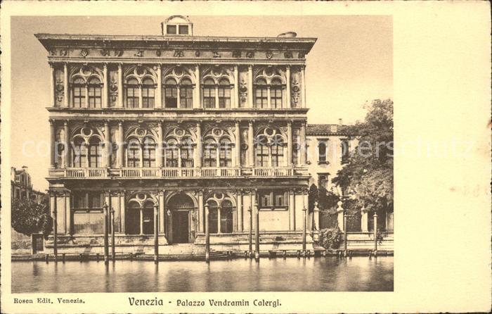 Venezia Venedig Palazzo Vendramin Calergi Kat.