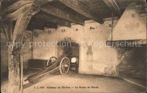Chillon Chateau de Chillon Le Corps de Garde Kat. Montreux