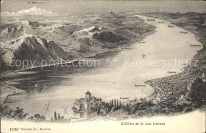 Chillon et le Lac Leman Panorama Kat. Montreux