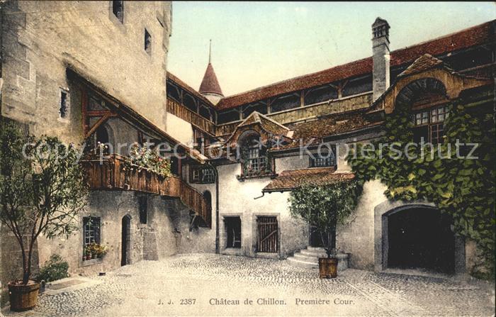 Chillon Chateau de Chillon Premiere Cour Kat. Montreux