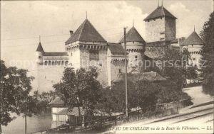 Chillon Chateau de Chillon vu de la Route de Villeneuve Kat. Montreux