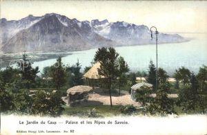Caux VD Le Jardin du Caux Palace Hotel et les Alpes de Savoie Kat. Caux