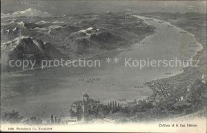Chillon et le Lac Leman Kat. Montreux