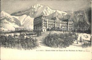 Caux VD Grand Hotel de Caux et les Rochers de Naye Kat. Caux