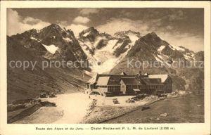 Jura Route des Alpes et du Jura Chalet Restaurant P.L.M. du Lautaret Kat. Bern
