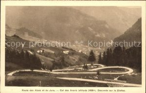 Jura Route des Alpes et du Jura Col des Aravis Kat. Bern