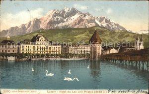 Luzern LU Hotel du Lac und Pilatus / Luzern /Bz. Luzern City