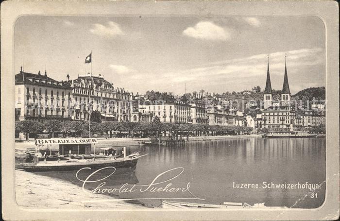 Luzern LU Schweizerhofquai Suchard Chocolat / Luzern /Bz. Luzern City