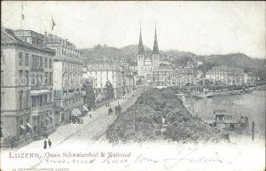 Luzern LU Schweizerhofquai und National / Luzern /Bz. Luzern City