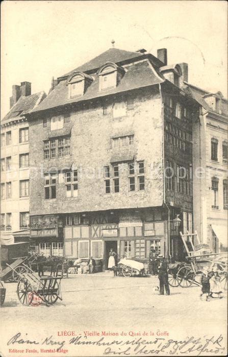 Liege Luettich Vieille Maison du Quai de la Goffe / Luettich /Provinde Liege Luettich