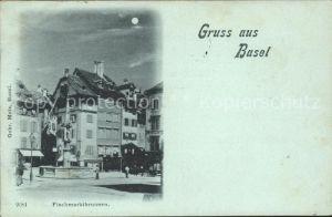 Basel BS Fischmarktbrunnen Kat. Basel