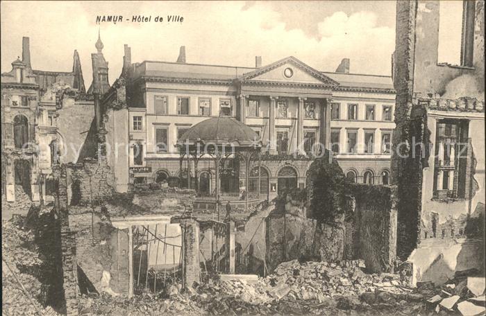 Namur Wallonie Hotel de Ville Ruines Grande Guerre 1. Weltkrieg /  /