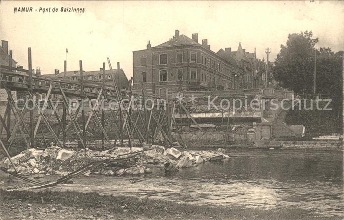 Namur Wallonie Pont de Salzinnes Ruines Grande Guerre 1. Weltkrieg /  /