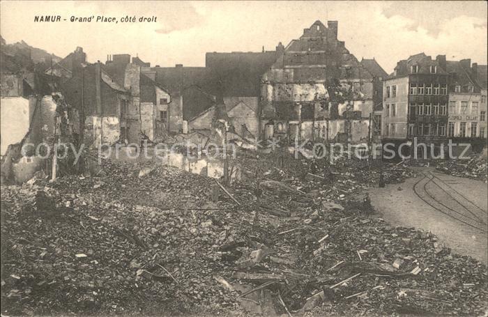 Namur Wallonie Grande Place Ruines Grande Guerre 1. Weltkrieg /  /