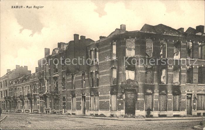 Namur Wallonie Rue Rogier Ruines Grande Guerre 1. Weltkrieg /  /