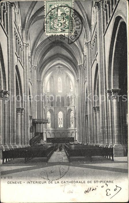 Geneve GE Interieur de la Cathedrale de St Pierre Kat. Geneve