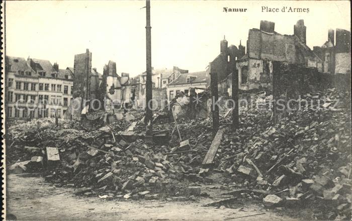 Namur Wallonie Ruines Place d'Armes Grande Guerre Truemmer 1. Weltkrieg /  /
