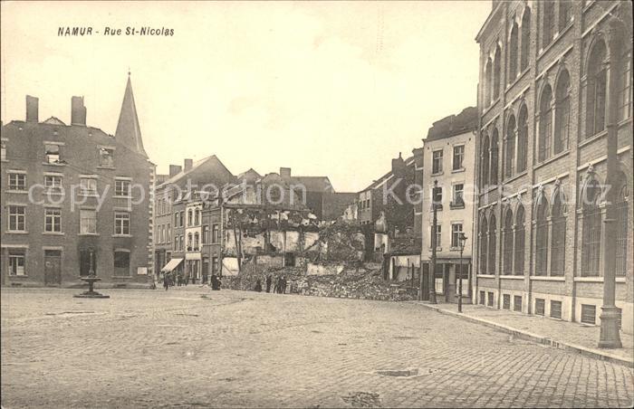 Namur Wallonie Rue Saint Nicolas Grande Guerre 1. Weltkrieg /  /