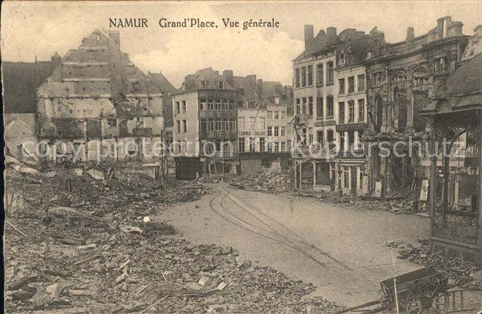 Namur Wallonie Ruines Grande Place 1. Weltkrieg /  /