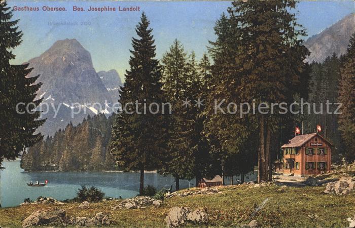Obersee GL mit Gasthaus Obersee Kat. Kloental