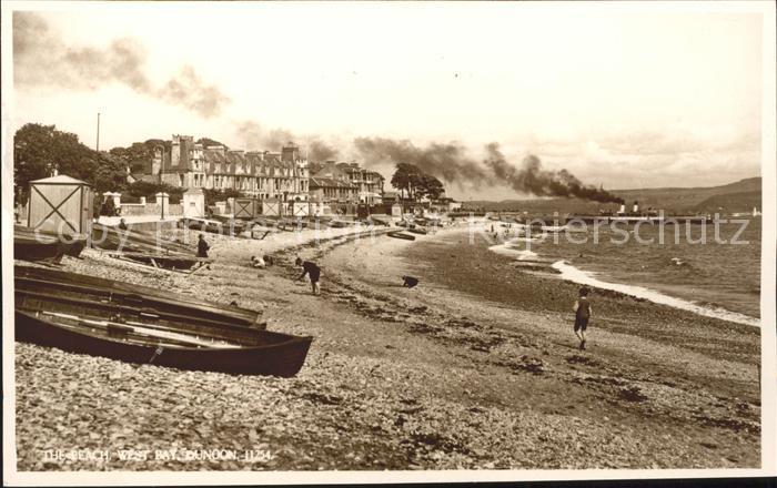 Dunoon Beach West Bay Steamer Kat. Argyll