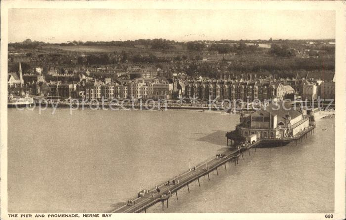 Herne Bay Pier and Promenade aerial view / City of Canterbury /