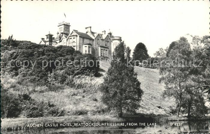 Beattock Auchen Castle Hotel view from the lake Kat. Moffat
