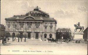 Geneve GE Statue du General Dufour Le Theatre Kat. Geneve