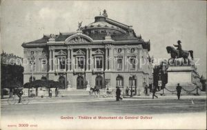Geneve GE Theatre et Monument du General Dufour Kat. Geneve
