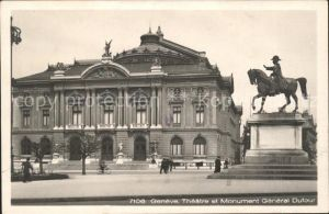 Geneve GE Theatre et Monument General Dufour Kat. Geneve