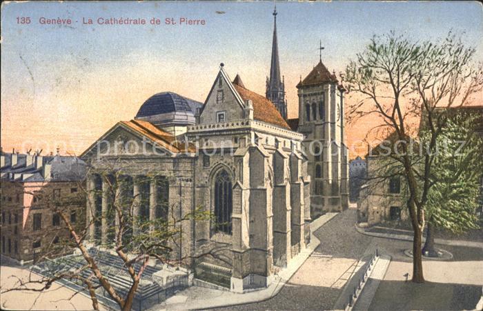 Geneve GE La Cathedrale de St Pierre Kat. Geneve