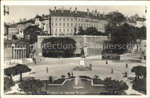 Geneve GE Place Neuve et statue du General Dufour Kat. Geneve