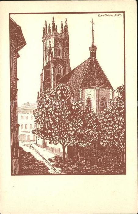 Fribourg FR Cathedrale de St Nicolas Kat. Fribourg FR
