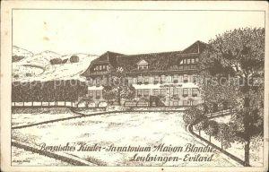 Leubringen Biel Bernisches Kinder Sanatorium Maison Blanche Kat. Biel
