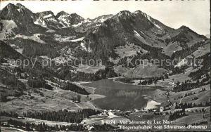 Lac Noir Schwarzsee FR Hotel Restaurant Gypsera Fliegeraufnahme
