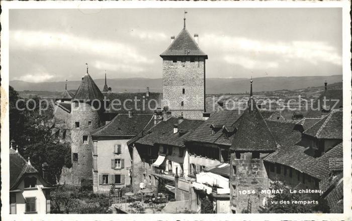 Morat Murten Le Chateau vu des remparts Kat. Murten